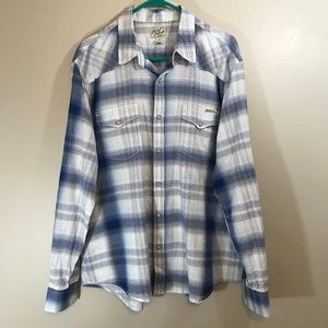 Lucky Brand Western Pearl Snap Shirt Size XL
